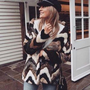 Amuse Society Waylon Faux Fur Chevron Jacket